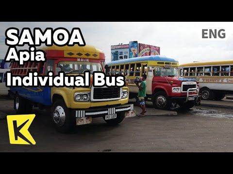 【K】Samoa Travel-Apia[사모아 여행-아피아]아피아 개성있는 버스/Individual/Bus