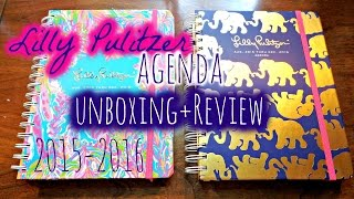 Lilly Pulitzer Agenda Unboxing + Review | 2015-2016