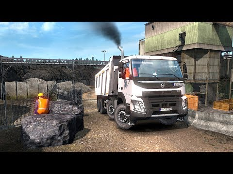 ETS2 - Volvo FMX Kipper - (Euro Truck Simulator 2) / Steering Wheel |