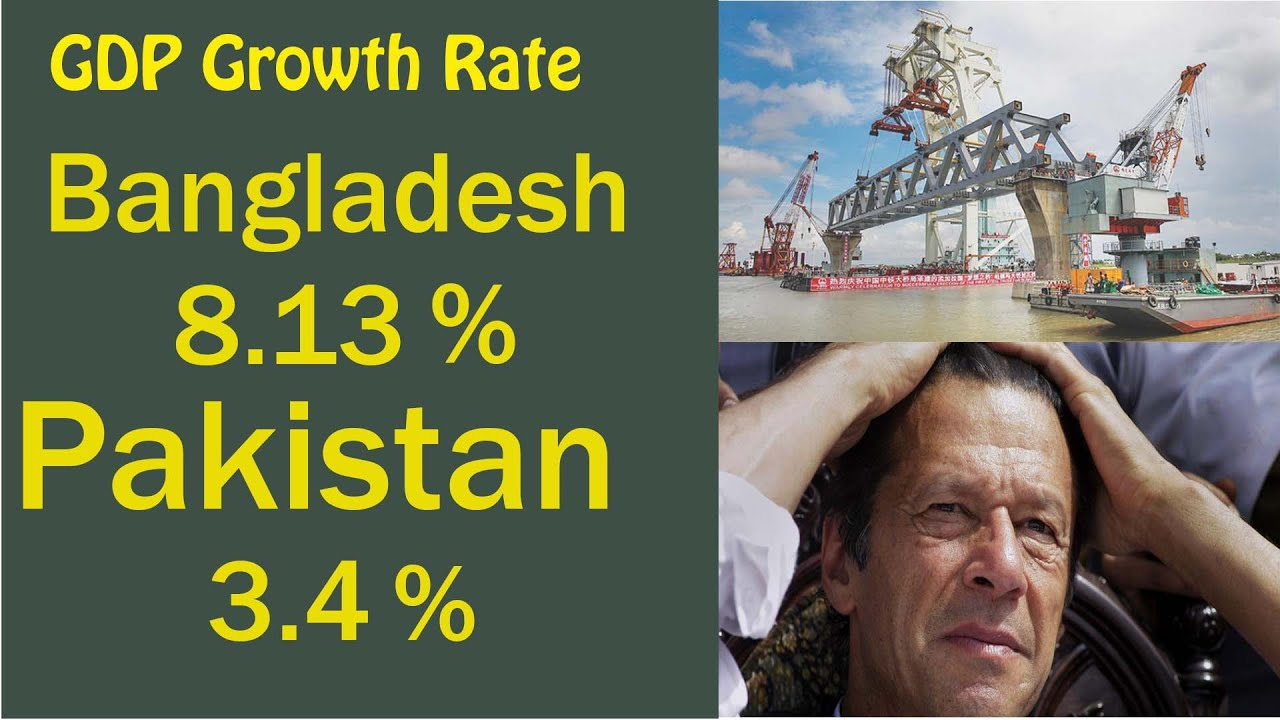 Pakistan vs Bangladesh economic growth 2019 - GDP growth rate explained in  Bangla