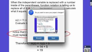 day 4 functions naming IV evaluating solving(This video talks about the name and independent variables of a function, evaluating functions and finding the ind. variable when the value of the function is ..., 2012-09-09T17:31:55.000Z)
