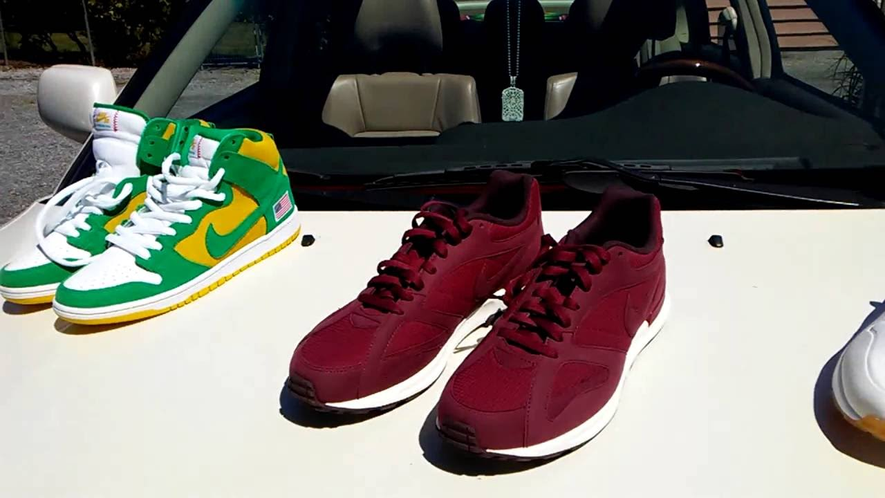 Burlington Coat factory finds, Nike Sb pro , Nike Air max gum bottom , Nike  burgundy - YouTube