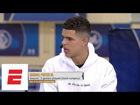 Michael Porter Jr. ESPN interview: 'I believe I'm the best player in the draft' | ESPN
