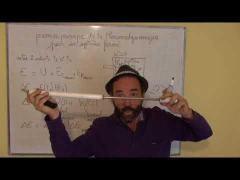 système thermodynamique ouvert / II-1 premier principe en terme d'énergie