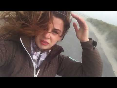 Ophelia hurricane in Dublin,Ireland  Part 2 ..Wind getting more and more stronge
