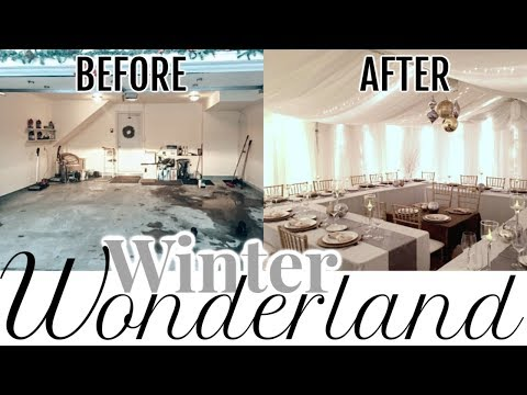 how-to-host-a-large-family-christmas-dinner-|-amazing-garage-transformation-to-winter-wonderland