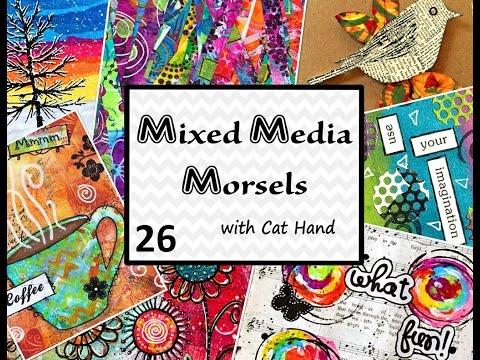 Mixed Media Morsels 26 - Using Stencils