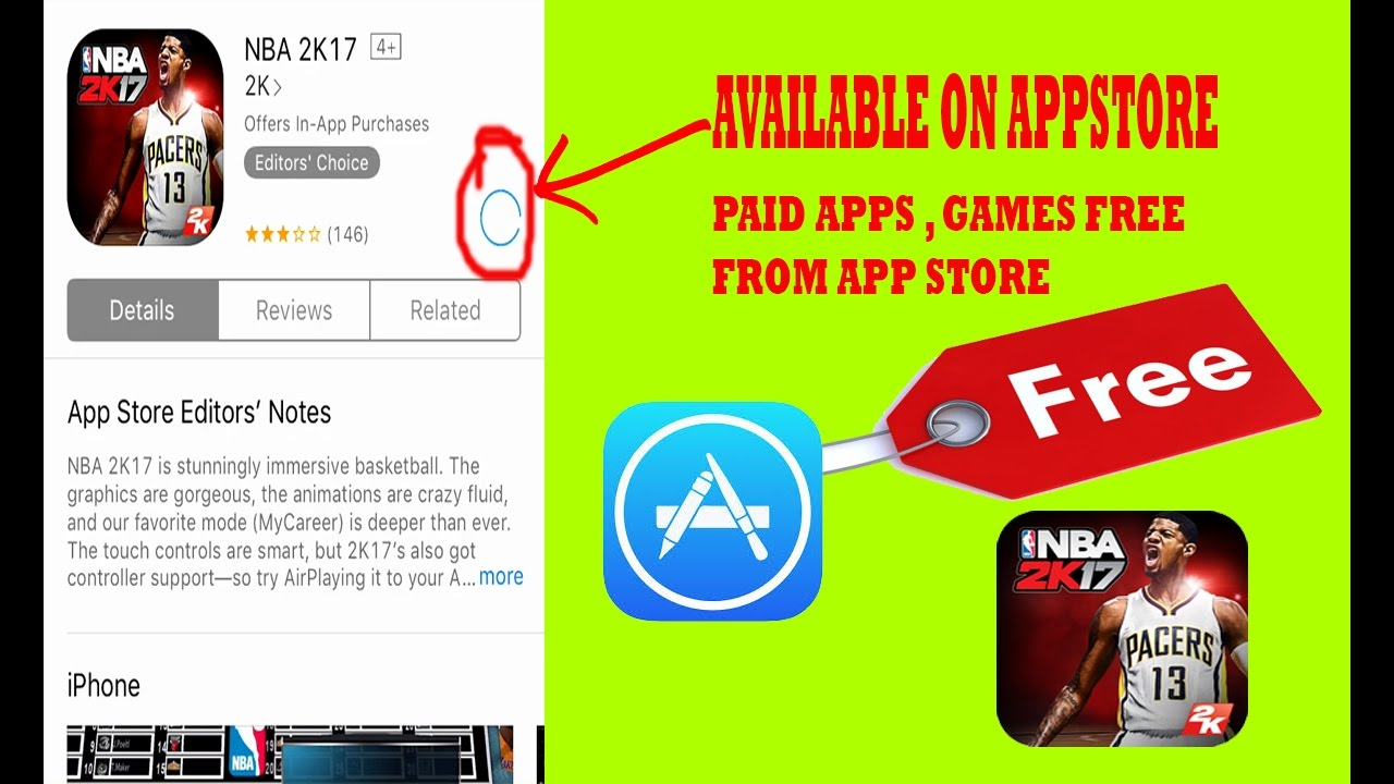 Download NBA 2K17 for FREE from App Store + Paid Games on iPhone