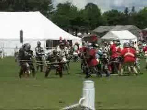 Medieval Battle, Woodville v Oxford billmen
