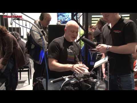 Korg ClipHit Portables E-Drum Set mit Clip-Triggern Musikmesse 2015 (deutsch)