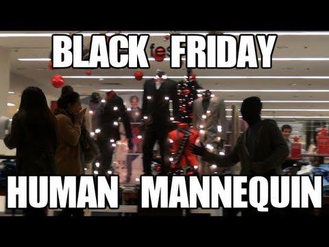Public Prank - BLACK FRIDAY Human Mannequin (Scare Prank)