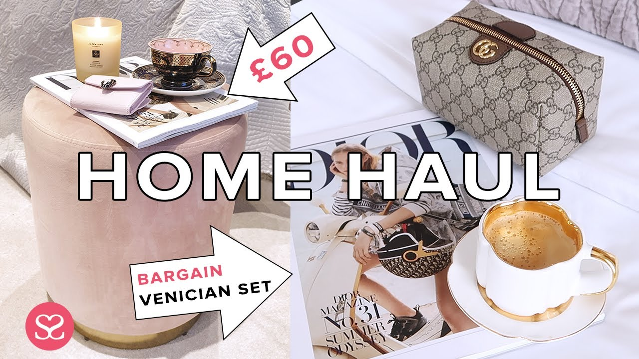 HIGH END HOMEWARE HAUL & IDEAS to Make your home cosy & luxurious in lockdown