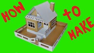 DIY  Beautiful cardboard house--Linda casa de papelão