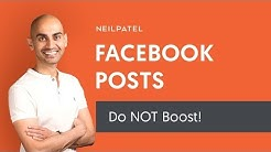 Why You Shouldn't Boost Your Facebook Posts