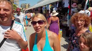 #Анапа. Погода 1.08.2018 ПАРАЛИЯ центральный пляж #Витязево вода +26