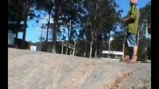 rc cars flying and jumping