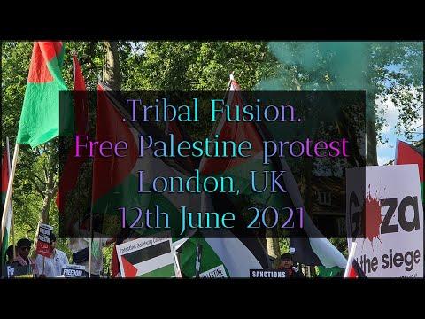 Free Palestine protest, 12th June 2021, London UK. Inc Jeremy Corbyn speech and Westfield protest.