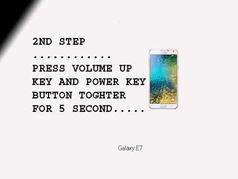 Samsung Galaxy E7 | Hard Reset | Pattern unlock..