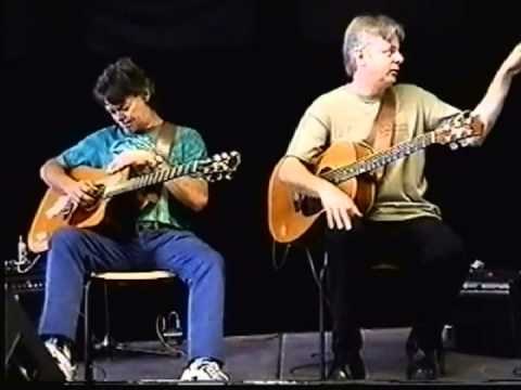 Tommy and Phil Emmanuel, Guitar Clinic 2001 France. GREAT FOOTAGE!