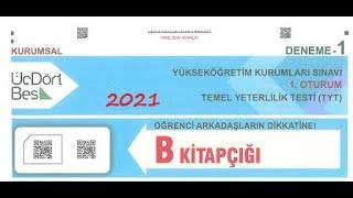 345 KURUMSAL DENEME 1 TYT - MATEMATİK ÇÖZÜMLERİ 2021