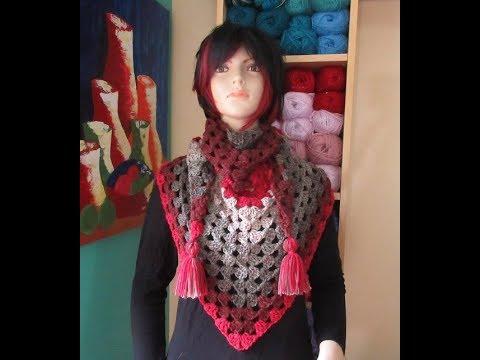 nuevo producto 016fd 31e98 Crochet bufanda bien facil y rapida