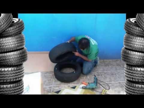 Мебель из шин. Как сделать пуф своими руками