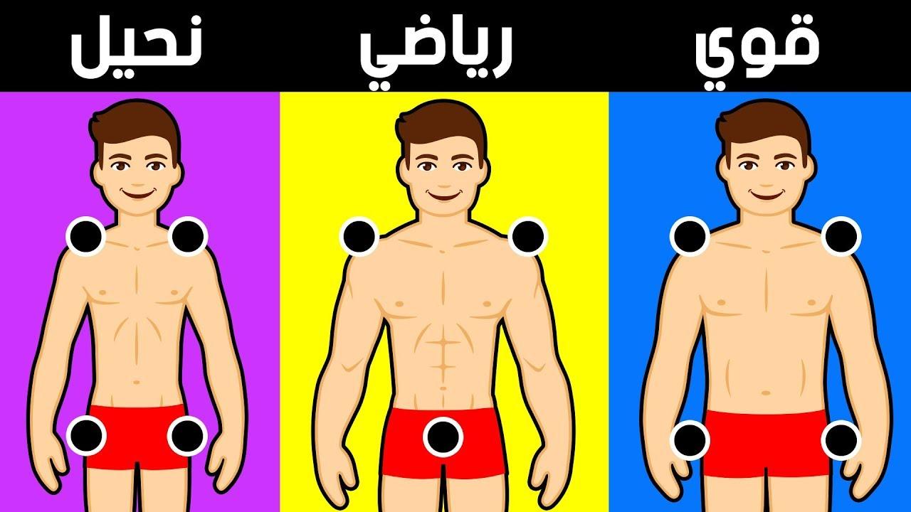 اختبار سيكشف عن حقيقة نوع بنيتك الجسدية