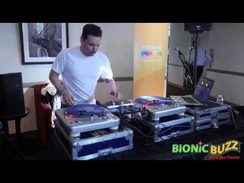 Mix Master Mike performs at VR on the Lot event