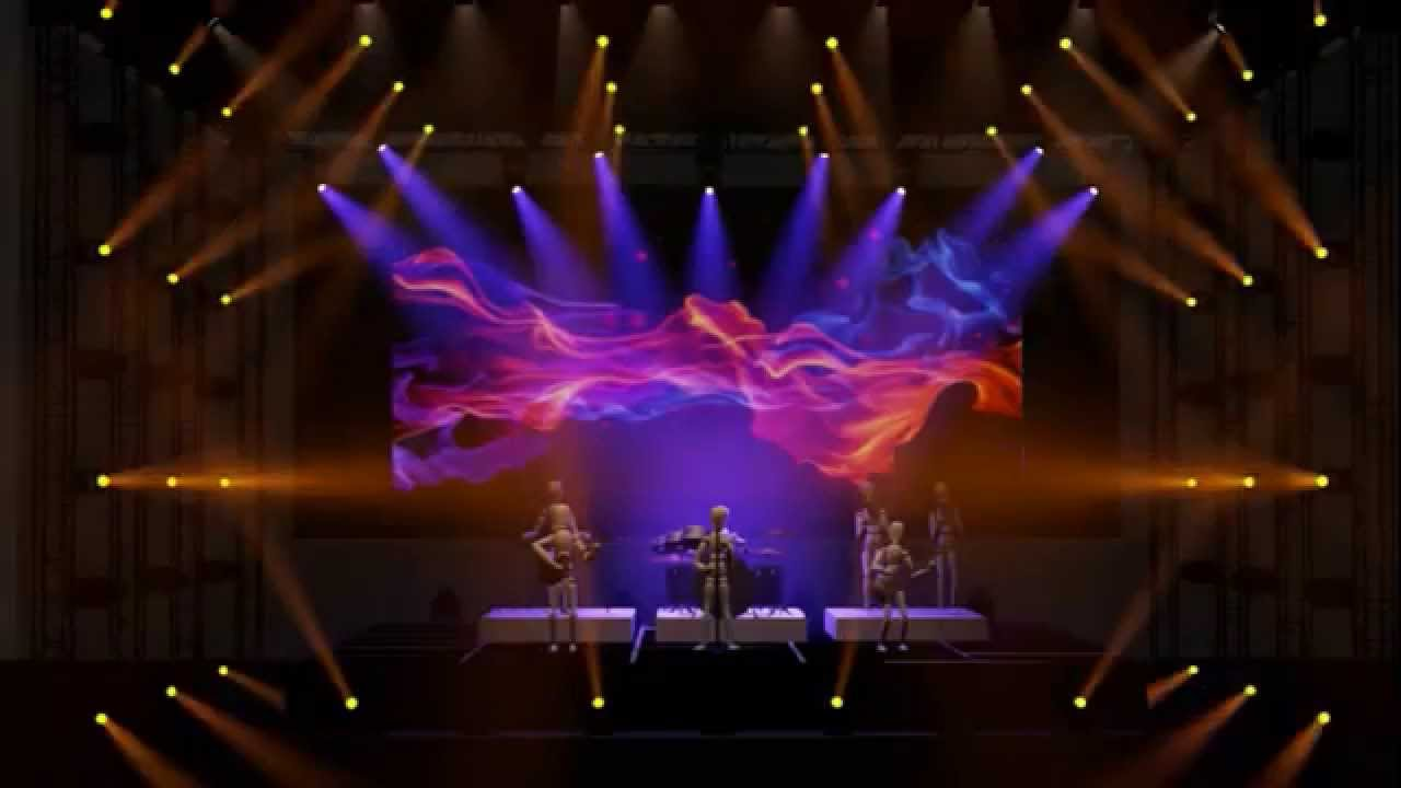 Lighting Concept For Festival Music Concert Stage