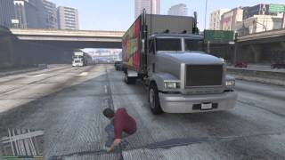 Grand Theft Auto V moon gravity and super jump fun with Michael.