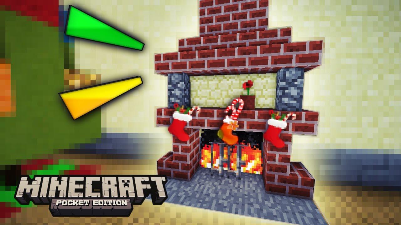 Minecraft pe como hacer una chimenea para esta navidad - Como construir una chimenea ...