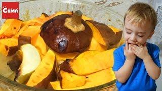 Запеченная тыква вкусный и легкий рецепт Готовим с детками | Baked pumpkin in the oven