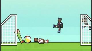 (моё первое видео на компе) Играю с другом в футбол