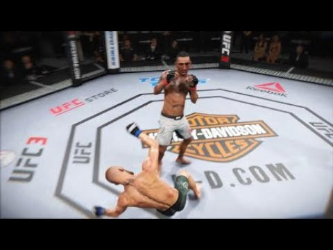 EA SPORTS™ UFC® 3_Max Hollowey Vs Conor Mcgrego Spinning Head kick ko