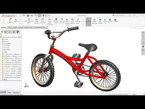 Solidworks Tutorial Design And Assembly Of Bicycle In Solidworks Youtube