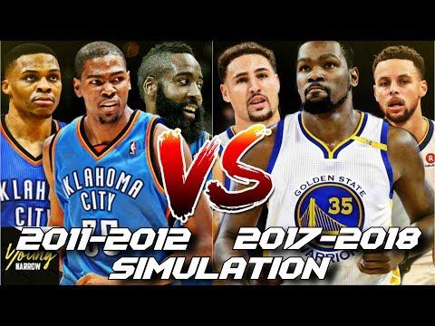 2017-2018 WARRIORS VS. 2011-2012 THUNDER SUPER-TEAM SIMULATION ON NBA 2K18!!!