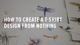 Yoktan bir T-shirt Tasarım Oluşturma