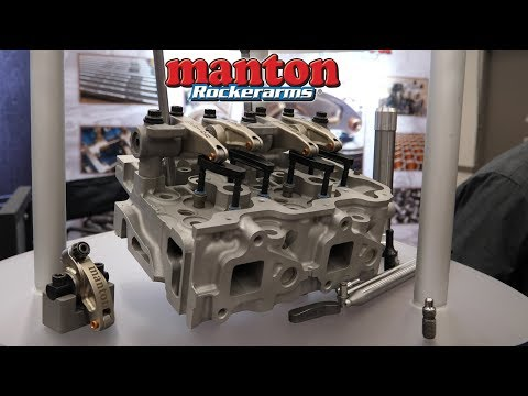 Manton Pushrods and Roller Rocker Arms For Diesel Engines at SEMA