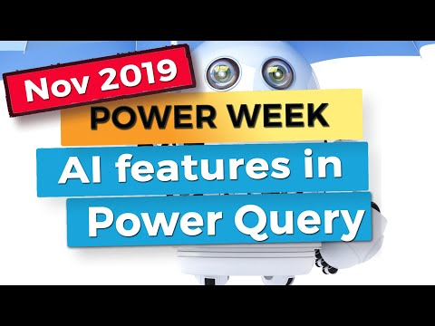 Text Analytics, Vision Analytics And Machine Learning In Power Query - Power BI Update November 2019