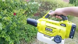Unboxing RYOBI 18v Cordless Fogger Sprayer    Setup  amp  First Use