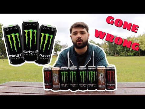 CRAZY ENERGY DRINK CHALLENGE (Gone Wrong 🙈)