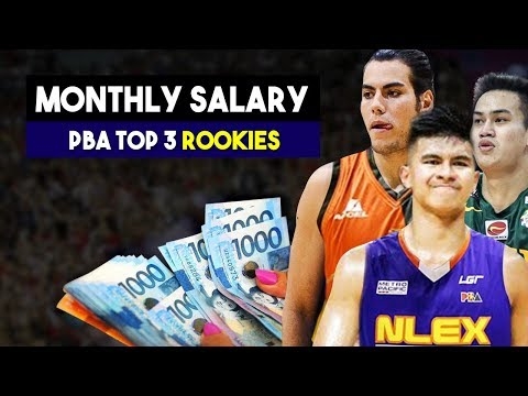 Magkano ang Sahod nina Ravena, Jose at Standhardinger | PBA Top 3 Rookies Monthly Salary