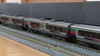 Nゲージ 短い動画 JR九州 2019年お盆期間に走った臨時特急九十九島みどりを再現 783系&787系