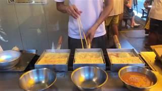 築地市場でプロが作る卵焼!!