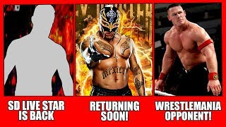 Rey Mysterio Returning Soon! John Cena Wrestlemania 34 Opponent! MMA Stars In WWE!