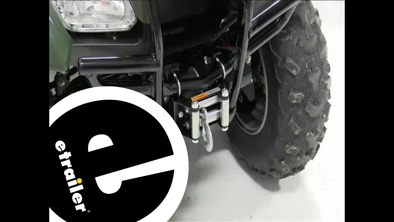 Installation Of A Superwinch Lt2000 Atv Winch On A 2011 Honda Rancher Etrailer Com Youtube