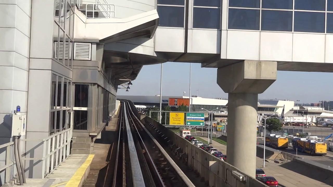 美國紐約市甘迺迪國際機場AIR TRAIN。JFK Airport AirTrain. - YouTube