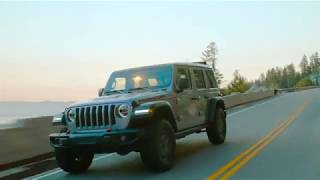 2018 Jeep® Wrangler Rubicon at the iconic Rubicon Trail near Lake Tahoe, California, in August 2018.