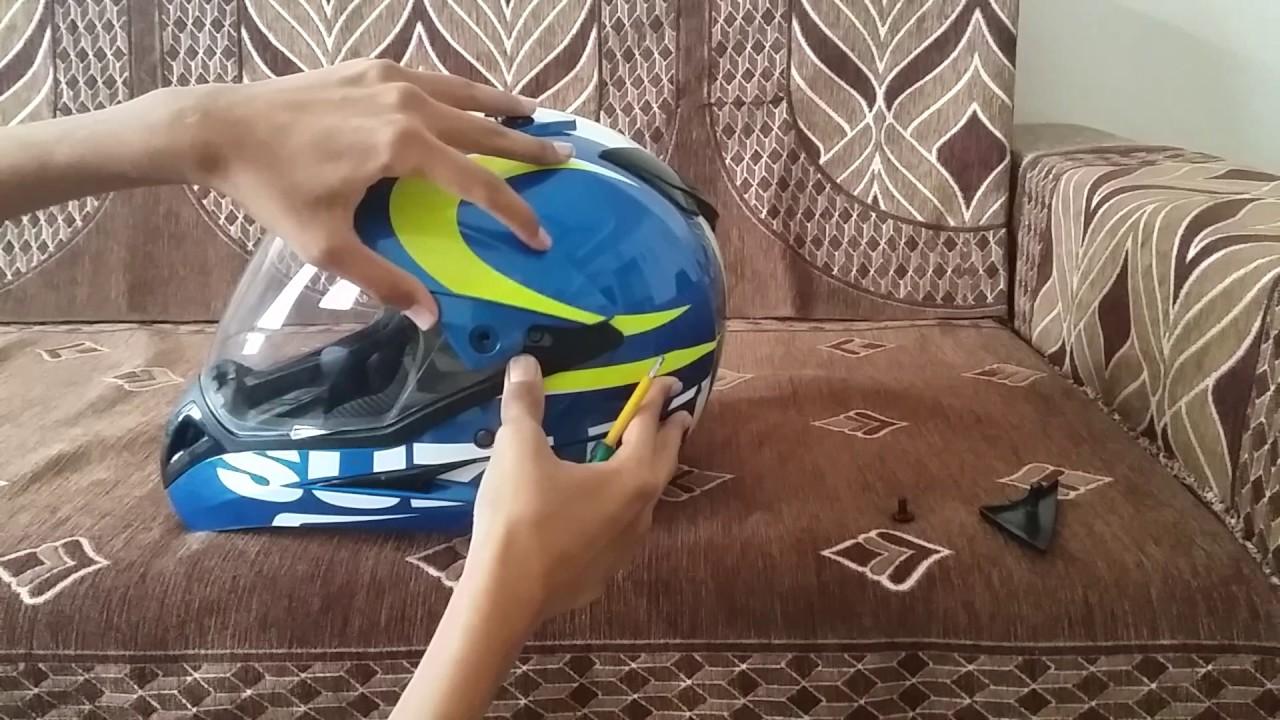 c895d727 How to change visor studds motocross helmet - YouTube
