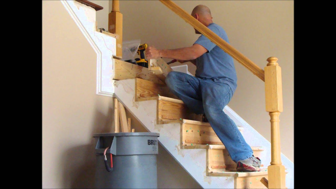 Stair And Rail Renovation Spring 2012 Youtube